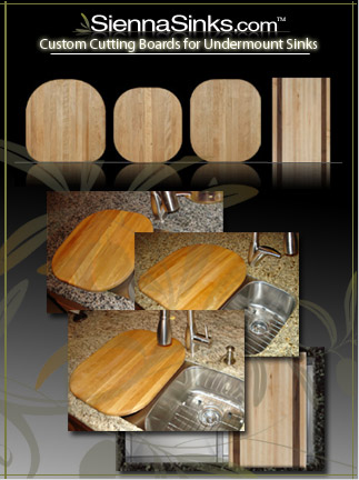 Custom Cutting Boards for Undermount Sinks