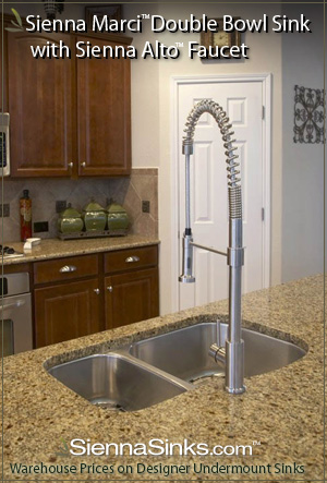 Sienna Marci™ Undermount Sink with Sienna Alto™ Faucet