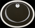 Sienna Ciollo™ - Black Undermount Ceramic Vanity Sink