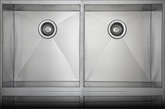 Sienna Ferretto™ XL - Zero Radius Double Bowl Undermount Sink